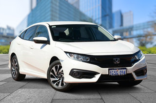 2018 Honda Civic 10th Gen MY18 VTi-S Luxe White Orchid 1 Speed Constant Variable Sedan.