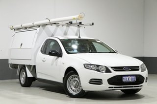 2013 Ford Falcon FG MK2 White 6 Speed Auto Seq Sportshift Cab Chassis.