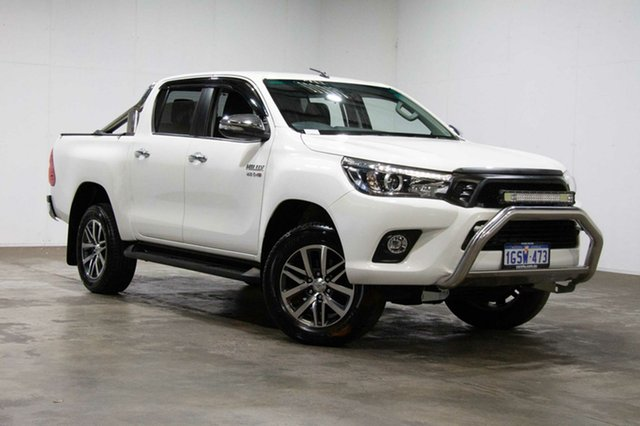 Used Toyota Hilux GUN126R SR5 Double Cab, 2015 Toyota Hilux GUN126R SR5 Double Cab White 6 Speed Sports Automatic Utility