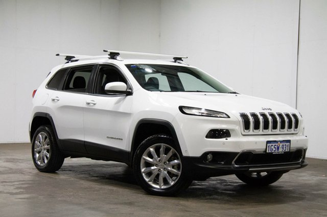 Used Jeep Cherokee KL MY16 Limited, 2015 Jeep Cherokee KL MY16 Limited White 9 Speed Sports Automatic Wagon