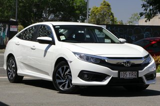 2018 Honda Civic 10th Gen MY18 VTi-S White Orchid 1 Speed Constant Variable Sedan.