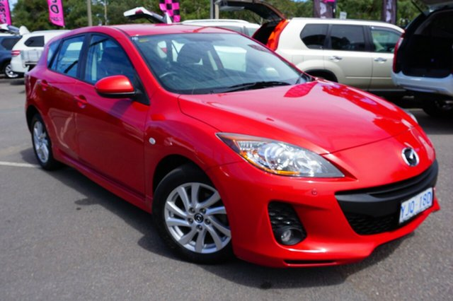 Used Mazda 3 BL10F2 MY13 Maxx Sport, 2013 Mazda 3 BL10F2 MY13 Maxx Sport Red 6 Speed Manual Hatchback