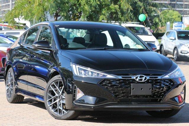 New Hyundai Elantra AD.2 MY19 Sport DCT, 2018 Hyundai Elantra AD.2 MY19 Sport DCT Phantom Black 7 Speed Sports Automatic Dual Clutch Sedan