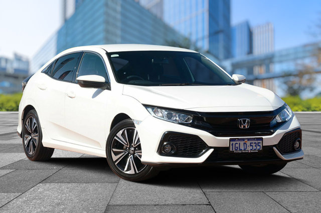 Used Honda Civic 10th Gen MY17 VTi-L, 2017 Honda Civic 10th Gen MY17 VTi-L White Orchid 1 Speed Constant Variable Hatchback