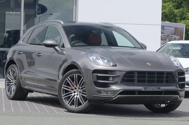 Used Porsche Macan 95B MY15 Turbo PDK AWD, 2014 Porsche Macan 95B MY15 Turbo PDK AWD Grey 7 Speed Sports Automatic Dual Clutch Wagon