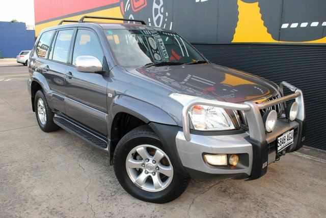 Used Toyota Landcruiser Prado KZJ120R GXL, 2003 Toyota Landcruiser Prado KZJ120R GXL Graphite Grey 5 Speed Manual Wagon