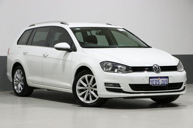 Used Volkswagen Golf AU MY14 110 TDI Highline, 2014 Volkswagen Golf AU MY14 110 TDI Highline White 6 Speed Direct Shift Wagon