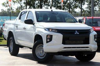 2021 Mitsubishi Triton MR MY21 GLX Double Cab ADAS White 6 Speed Sports Automatic Utility