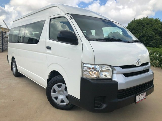 Used Toyota HiAce KDH223R MY12 Commuter High Roof Super LWB, 2013 Toyota HiAce KDH223R MY12 Commuter High Roof Super LWB White 5 Speed Manual Bus