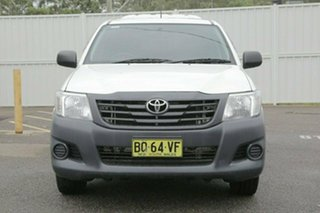 2012 Toyota Hilux TGN16R Workmate White 4 Speed Automatic Utility