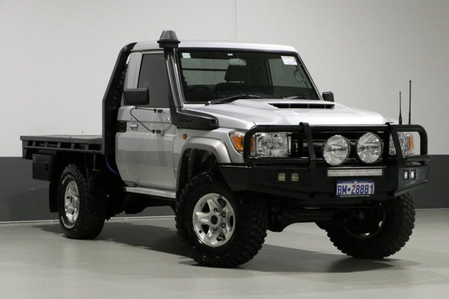 Used Toyota Landcruiser LC70 VDJ79R MY17 GXL (4x4), 2017 Toyota Landcruiser LC70 VDJ79R MY17 GXL (4x4) Silver 5 Speed Manual Cab Chassis