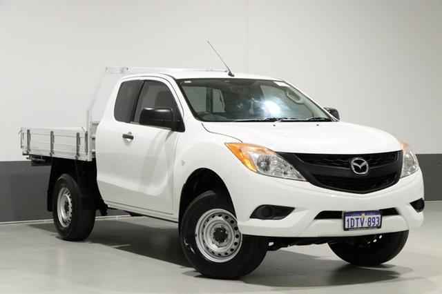 Used Mazda BT-50  XT Hi-Rider (4x2), 2011 Mazda BT-50 XT Hi-Rider (4x2) White 6 Speed Manual Freestyle Cab Chassis