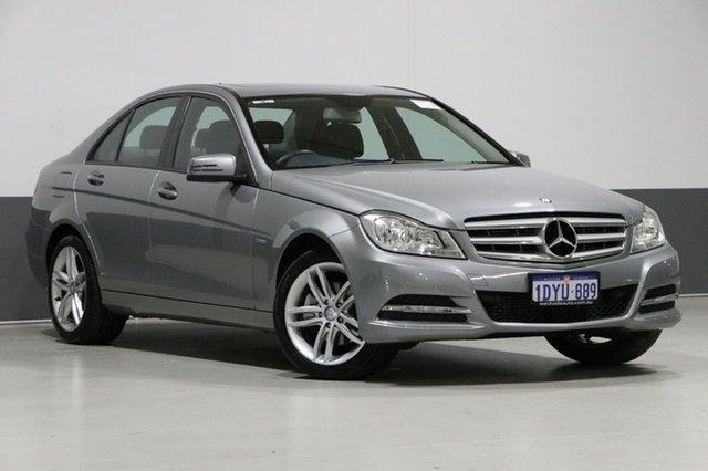 Used Mercedes-Benz C200 W204 MY12 BE, 2012 Mercedes-Benz C200 W204 MY12 BE Palladium Silver 7 Speed Automatic G-Tronic Sedan
