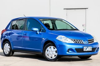 2011 Nissan Tiida C11 S3 ST Blue 4 Speed Automatic Hatchback.