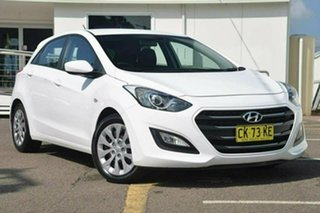 2016 Hyundai i30 GD4 Series II Active White 6 Speed Sports Automatic Hatchback.