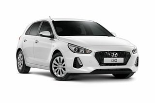 2018 Hyundai i30 PD MY19 Go Polar White 6 Speed Sports Automatic Hatchback.