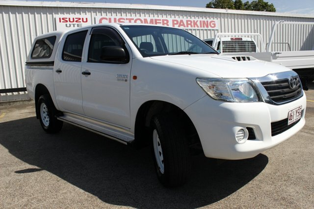 Used Toyota Hilux KUN26R MY12 SR Double Cab, 2011 Toyota Hilux KUN26R MY12 SR Double Cab White 4 Speed Automatic Utility