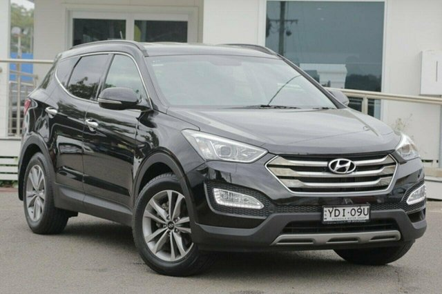 Used Hyundai Santa Fe DM MY14 Elite, 2014 Hyundai Santa Fe DM MY14 Elite Black 6 Speed Sports Automatic Wagon
