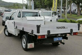 2014 Toyota Hilux KUN16R Workmate White 5 Speed Manual Cab Chassis.