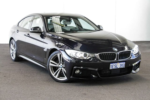 Used BMW 420d F36 M Sport Gran Coupe, 2015 BMW 420d F36 M Sport Gran Coupe Black 8 Speed Sports Automatic Hatchback