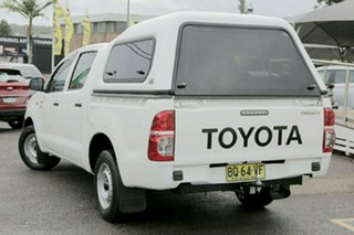 2012 Toyota Hilux TGN16R Workmate White 4 Speed Automatic Utility.