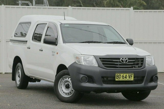 Used Toyota Hilux TGN16R Workmate, 2012 Toyota Hilux TGN16R Workmate White 4 Speed Automatic Utility