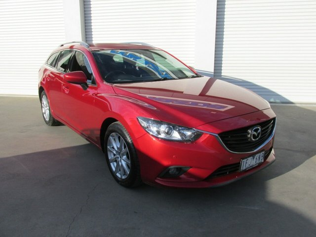 Used Mazda 6 GJ1032 Sport SKYACTIV-Drive, 2015 Mazda 6 GJ1032 Sport SKYACTIV-Drive Red 6 Speed Sports Automatic Wagon