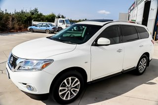 2014 Nissan Pathfinder R52 MY14 ST-L X-tronic 4WD White Pearl 1 Speed Constant Variable Wagon.