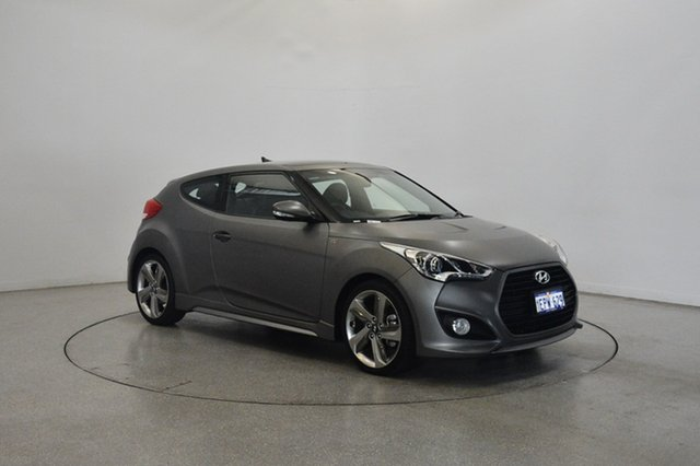 Used Hyundai Veloster FS4 Series II SR Coupe Turbo +, 2014 Hyundai Veloster FS4 Series II SR Coupe Turbo + Grey 6 Speed Manual Hatchback