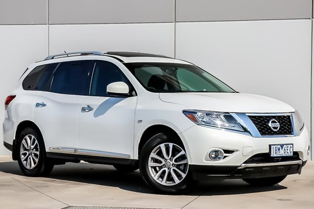 Used Nissan Pathfinder R52 MY14 ST-L X-tronic 4WD, 2014 Nissan Pathfinder R52 MY14 ST-L X-tronic 4WD White Pearl 1 Speed Constant Variable Wagon
