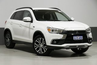 2017 Mitsubishi ASX XC MY17 LS (2WD) White Continuous Variable Wagon.