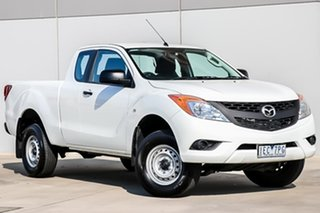 2014 Mazda BT-50 UP0YF1 XT Freestyle 4x2 Hi-Rider Cool White 6 Speed Sports Automatic Cab Chassis.