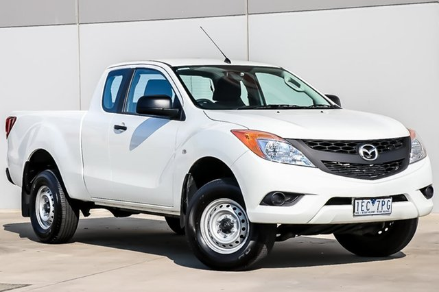 Used Mazda BT-50 UP0YF1 XT Freestyle 4x2 Hi-Rider, 2014 Mazda BT-50 UP0YF1 XT Freestyle 4x2 Hi-Rider Cool White 6 Speed Sports Automatic Cab Chassis