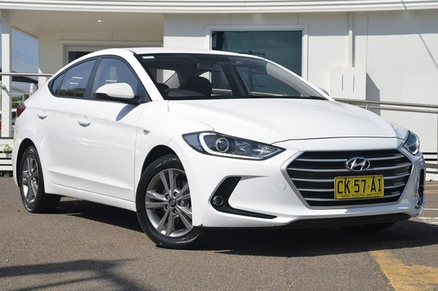 Used Hyundai Elantra AD Active, 2016 Hyundai Elantra AD Active White 6 Speed Sports Automatic Sedan