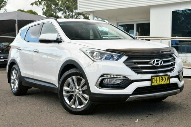 Used Hyundai Santa Fe  Elite, 2016 Hyundai Santa Fe DM3 Series II Elite White 6 Speed Sports Automatic Wagon