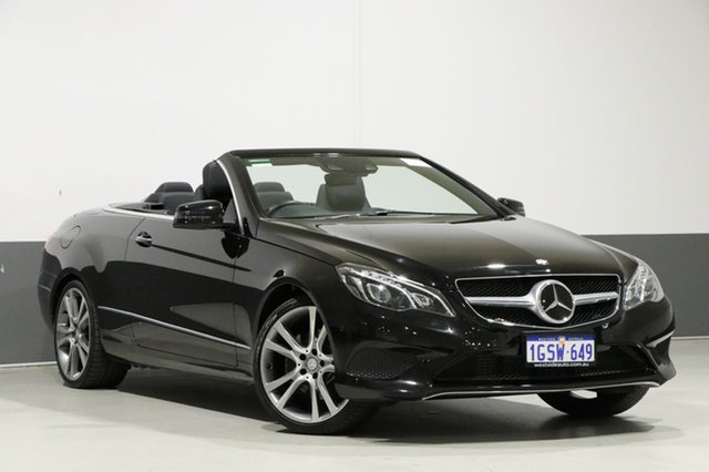 Used Mercedes-Benz E250 207 MY13 , 2013 Mercedes-Benz E250 207 MY13 Obsidian Black 7 Speed Automatic Cabriolet