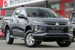 2018 Mitsubishi Triton MR MY19 GLX+ Double Cab Graphite Grey 6 Speed Manual Utility.