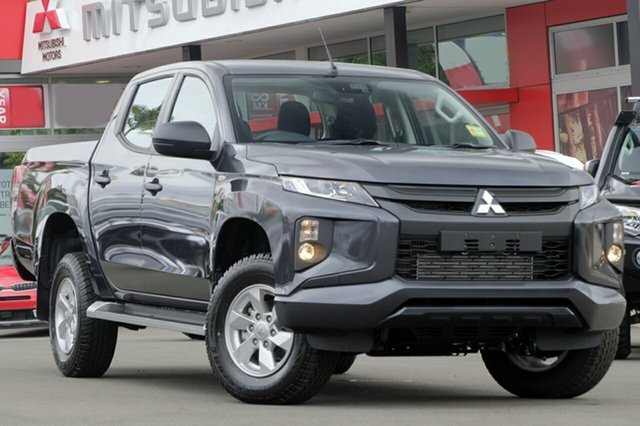 New Mitsubishi Triton MR MY19 GLX+ Double Cab, 2018 Mitsubishi Triton MR MY19 GLX+ Double Cab Graphite Grey 6 Speed Manual Utility