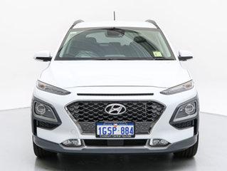 2018 Hyundai Kona OS Highlander (AWD) Chalk White 7 Speed Auto Dual Clutch Wagon.