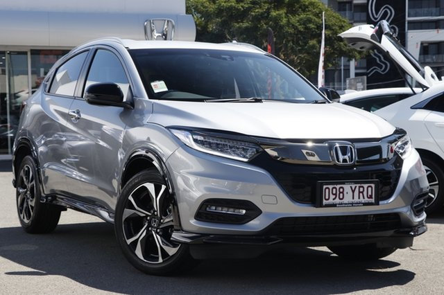 Demo Honda HR-V MY18 RS, 2018 Honda HR-V MY18 RS Lunar Silver 1 Speed Constant Variable Hatchback