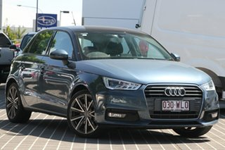 2015 Audi A1 8X MY16 Sport Sportback S Tronic Blue 7 Speed Sports Automatic Dual Clutch Hatchback.