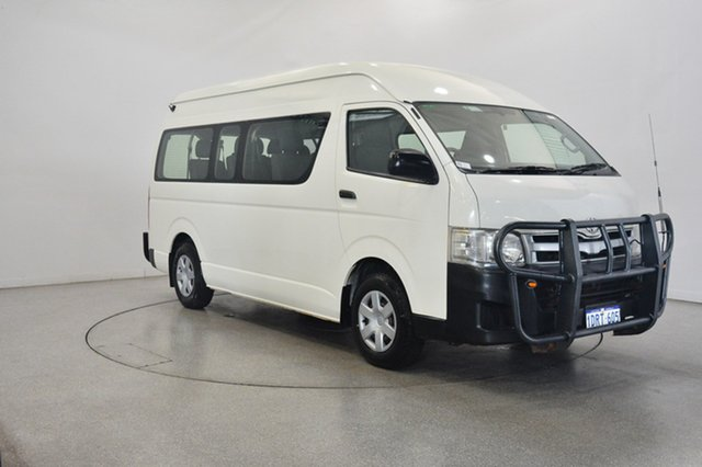 Used Toyota HiAce KDH223R MY11 Commuter High Roof Super LWB, 2011 Toyota Hiace KDH223R MY11 Commuter High Roof Super LWB White 5 Speed Manual Bus