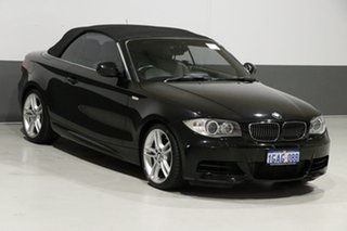 2012 BMW 135i E88 MY12 Black 7 Speed Auto Dual Clutch Convertible