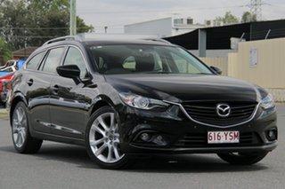 2013 Mazda 6 GJ1031 GT SKYACTIV-Drive Black 6 Speed Sports Automatic Wagon.