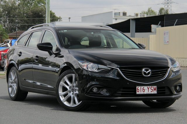 Used Mazda 6 GJ1031 GT SKYACTIV-Drive, 2013 Mazda 6 GJ1031 GT SKYACTIV-Drive Black 6 Speed Sports Automatic Wagon