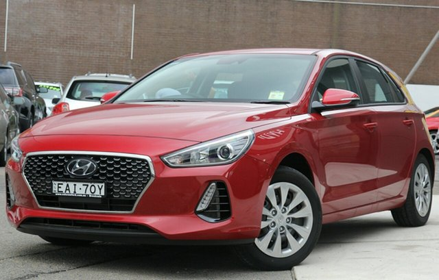 Demo Hyundai i30 PD MY19 Go, 2018 Hyundai i30 PD MY19 Go Fiery Red 6 Speed Sports Automatic Hatchback