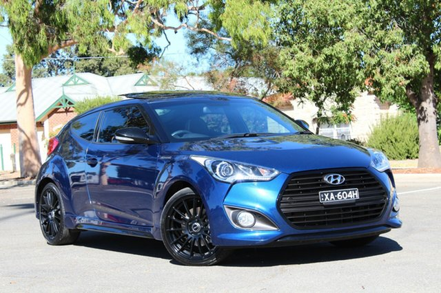 Used Hyundai Veloster FS5 Series II Street Coupe D-CT, 2016 Hyundai Veloster FS5 Series II Street Coupe D-CT Blue 7 Speed Sports Automatic Dual Clutch