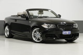 2012 BMW 135i E88 MY12 Black 7 Speed Auto Dual Clutch Convertible.
