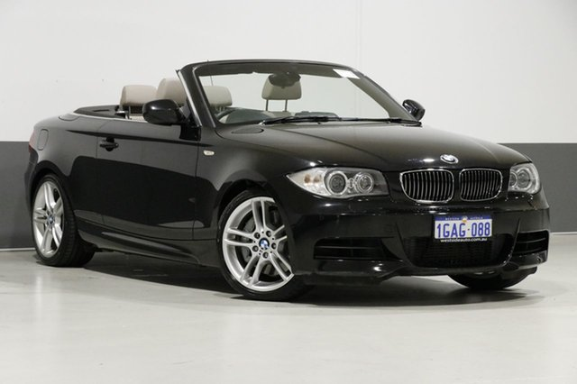 Used BMW 135i E88 MY12 , 2012 BMW 135i E88 MY12 Black 7 Speed Auto Dual Clutch Convertible