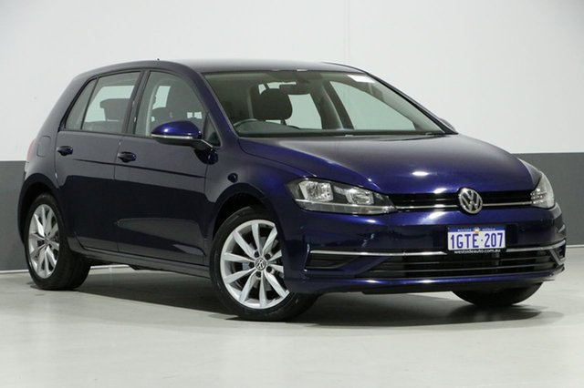Used Volkswagen Golf AU MY18 110 TSI Comfortline, 2017 Volkswagen Golf AU MY18 110 TSI Comfortline Atlantic Blue 7 Speed Auto Direct Shift Hatchback